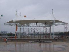 舞台膜结构-广东省雷州市市政广场舞台张拉膜结构