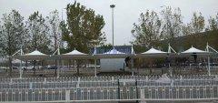 天津市机场帽口膜结构停车棚