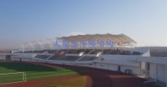 膜结构遮阳棚---山西省长治潞城体育场看台膜结构遮阳棚
