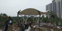 膜结构景观凉亭