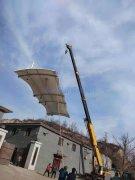 灵石县养猪场饲料储存罐膜结构遮阳雨棚