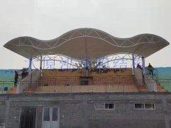 膜结构看台遮阳雨棚----栾城楼底中学